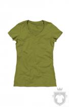 Camisetas Stedman Janet Organic V W color  Earth Green :: Ref: EGR