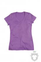 Camisetas Stedman Janet Organic V W color Lavender Purple :: Ref: LAP
