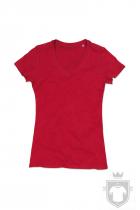 Camisetas Stedman Janet Organic V W color Pepper Red :: Ref: PER