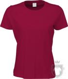 Camisetas Tee Jays Sof Tee W color Deep Red :: Ref: 406