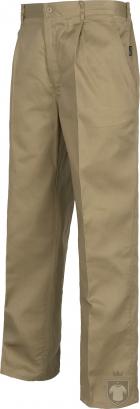 Pantalones Work Team laboral Industrial color Beige :: Ref: BG