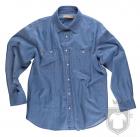 Camisas Work Team Camisa industrial tejana color Vaquero Claro :: Ref: VQC
