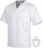Camisas Work Team Pijama medico servicios color White :: Ref: BL