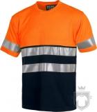 Camisetas Work Team Combi Bicolor color High Visibility Orange / Navy :: Ref: NAV_MR