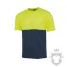 Camisetas Work Team Tacto Algodón color High Visibility Yellow / Navy :: Ref: AAV_MR