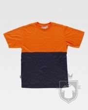 Camisetas Work Team Tacto Algodón color High Visibility Orange / Navy :: Ref: NAV_MR