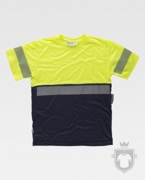 Camisetas Work Team alta visibilidad tacto algodón color High Visibility Yellow / Navy :: Ref: AAV_MR
