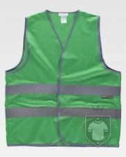Chalecos Work Team HVTT03 Colores color Green :: Ref: VD