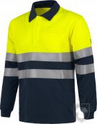 Polos Work Team Algodón alta visibilidad S6591 color Yellow Blue :: Ref: MR_AAV