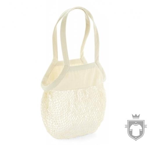 WM Borsa shopper Organica Cotton Mesh naturale