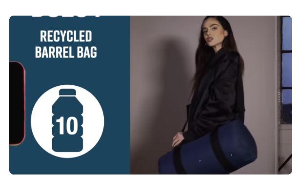 Vídeo de detalle Bag-Base Recycled Barrel Bag