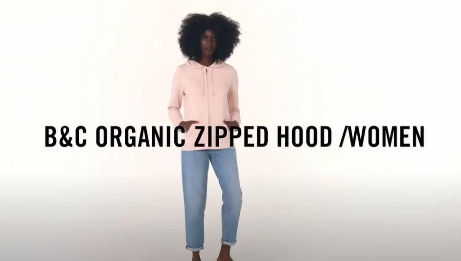 Vídeo de detalle BC B&C Organic Zipped Hooded W